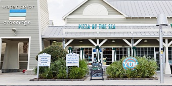 Pizza by the Sea Watercolor Crossings Location